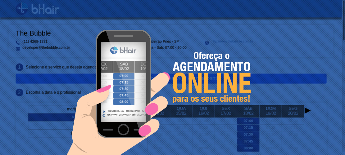 Ofereça o agendamento online para os seus clientes!